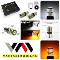 LAMPU LED MUNDUR SEIN SIGN SOCKET 1156 KAKI 1 CANBUS BA15S 144 LED