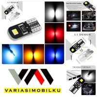 LAMPU LED T10 W5W CANBUS BLACK 2 SISI ERROR FREE SUPER BRIGHT