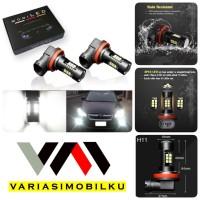 LAMPU FOGLAMP MODILED H11/H8 CANBUS BLACK 14W 21 TITIK 12-24V 6000K