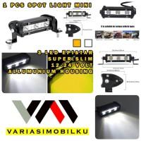 LED BAR SLIM MINI LAMPU TEMBAK SOROT CREE 3 TITIK SLIM HIGH GRADE
