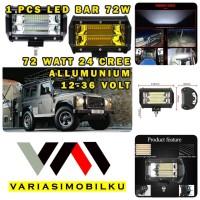 WORKLIGHT LED BAR 72W 24 TITIK LAMPU CWL CREE SOROT TEMBAK OFFROAD