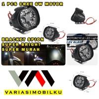 LAMPU TEMBAK MOTOR SPION WORK LIGHT LED SPION MOTOR 6W 12 VOLT BRIGHT