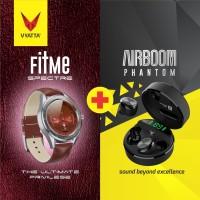 VYATTA BUNDLE FITME SPECTRE + AIRBOOM PHANTOM BLUETOOTH EARPHONE&WATCH