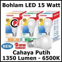 Toshiba Bohlam Lampu LED Cahaya Warna Putih 15 Watt 15W Hemat Energy