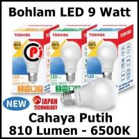 Toshiba Bohlam Lampu LED Cahaya Warna Putih 9 Watt 9W Hemat Energy