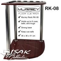Murrey Floor Cue Rack RK-08 Rak Stick Kayu Sudut Corner Billiard Cues