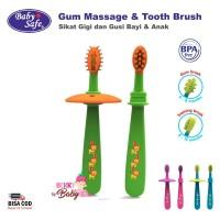 Baby Safe Gum Massage & Toothbrush Sikat Gigi Bayi Anak Training Brush