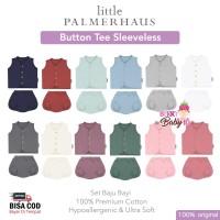 Little Palmerhaus Baby Button Tee Set Sleeveless Baju Celana Bayi