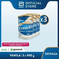 Ensure Vanila 900 g Susu Nutrisi Dewasa Rendah Laktosa - 3 klg