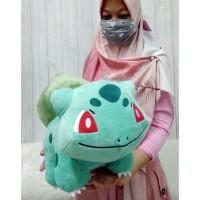 Boneka bulbasaur 30cm/boneka teman pokemon/boneka pikachu