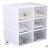Kotak sepatu lipat/Box sepatu lipat/kotak sepatu transparan - Putih