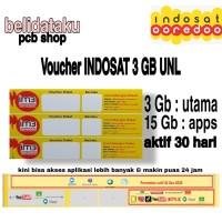 Voucher Paket Data INDOSAT 3 GB