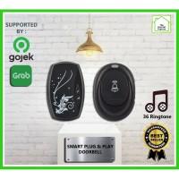 Bel Rumah Wireless Taffware Waterproof Smarthome Doorbell - Hitam, All Size