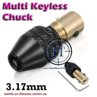 Keyless Multi Chuck Mini Drill 3.17mm Dinamo Bor Clamping 0.3-3.5mm