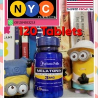 Melatonin 3 Mg Puritans Pride 3Mg Puritan Supplement Tidur Import USA