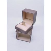 Ring Box / Kotak Cincin Berlapis (Import) - Krem