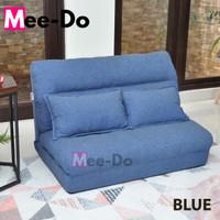 Mee-Do Sofa Bed Lipat Kursi Lipat Kursi Lesehan Kursi Santai Lantai - BLUE