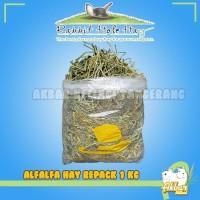 Alfalfa hay repack 1 kg RHH Rabbit Hole Hay Makanan Kelinci Alfalfa