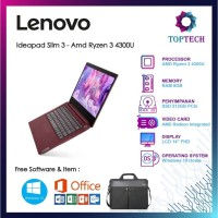 Lenovo Ideapad Slim 3 - Amd Ryzen 3 4300U 8GB 512SSD W10 FREE OFFICE
