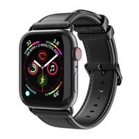 DD01 Dux Ducis Leather Strap Apple Watch Series 1 2 3 4 5 - Hitam, 38mm 40mm