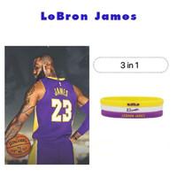 Gelang karet rubber nba star Fashion sporty wristband 3 in 1 - LBJ 23