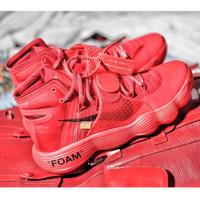 Sepatu Basket Nike React Hyperdunk Off White Red Merah