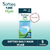 Softies Daily FOR HIJAB Mask Headloop 3 ply Masker 5 pcs