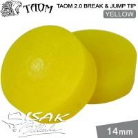 Taom 2.0 Break Jump Tip Yellow - 14mm Extra Hard Kepala Stick Billiard