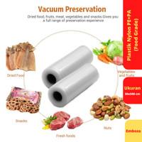 Vacuum Sealer Food Saver Bag, Ukuran 30 cm x 500 cm