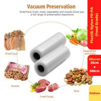 Vacuum Sealer Food Saver Bag, Ukuran 25 cm x 500 cm
