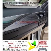 STIKER / STICKER CARBON 5D ( NEW )