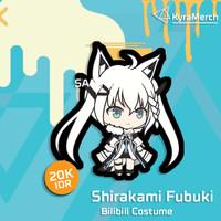 Keychain Hololive Japan Shirakami Fubuki New Costume