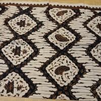 kain batik tulis sogan klasik Cirebon uk 2,30x105cm
