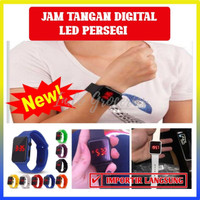 JAM TANGAN DIGITAL LED PERSEGI PRIA / WANITA - 100071 - RANDOM