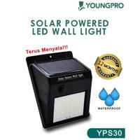 Lampu Dinding Tenaga Solar - Lampu Taman 30 LED Tenaga Surya No Sensor - 1 mode terang