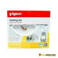 FEEDING SET WITH JUICE FREEDER PIGEON BABY GIFT / KADO BAYI