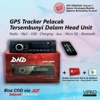 GPS Tracker Pelacak dalam Head Unit Tape Single Din Bluetooth USB