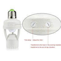Smart Fitting E27 Lampu Bohlam Motion Sensor Gerak Otomatis Nyala