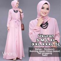 Gamis JUMBO Terbaru Ukuran S M L XL XXL 3XL 5XL Vinara Dress