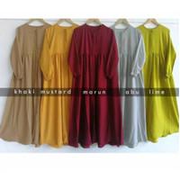 Gamis JUMBO Terbaru Ukuran S M L XL XXL 3XL 5XL Naisa Dress