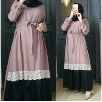 Gamis Jumbo Terbaru Ukuran S M L XL XXL 3XL 5XL Arafah Dress