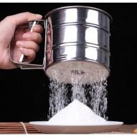 Ayakan Tepung Flour Sifter Saringan Single Powder Strainer Stainless