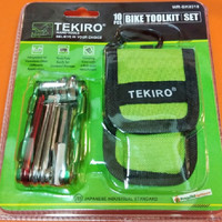 Kunci Sepeda Lipat Tool Kit Set 10 PCS TEKIRO Bike Toolkit Bicycle