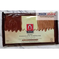 Tulip Dark Chocolate Compound (DCC) 1 Kg/ coklat blok batangan PREMIUM