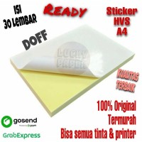 Kertas Stiker HVS A4 - isi 30 lbr / Kertas Stiker / Sticker HVS Doff