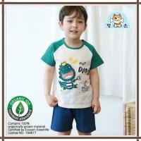 Baju summer korea / baju anak kecil organik/ lengan pendek baby tyrann - 90