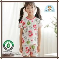 Baju anak summer korea / baju anak bahan organik/ red bunny - 100
