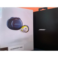 (BNIB) Bose SoundSport Free True Wireless Earphone Navy / Citron