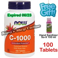 Vitamin C 1000 with Rose Hips, Now Foods ( USA PRODUCT ) 100 Tablets
