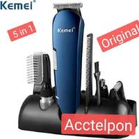 KEMEI KM-550 Multifunctional 5-in-1 Rechargeable Electric Hair Clipper